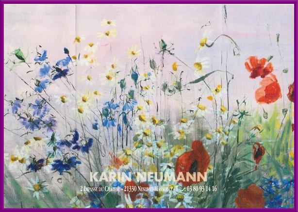 Karin Neumann a présenté son exposition d'été 2016...des fleurs, que des fleurs !