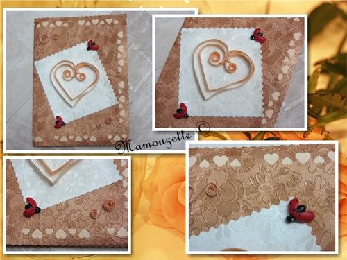 Carte coeur en quilling