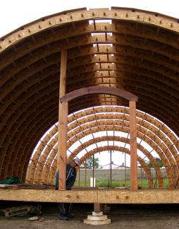 Construction de la grande écoquille d'Alain