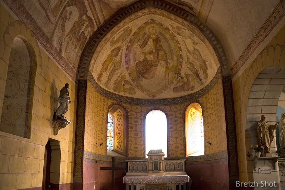 Abside église Saint-Martin - Lignières de Touraine