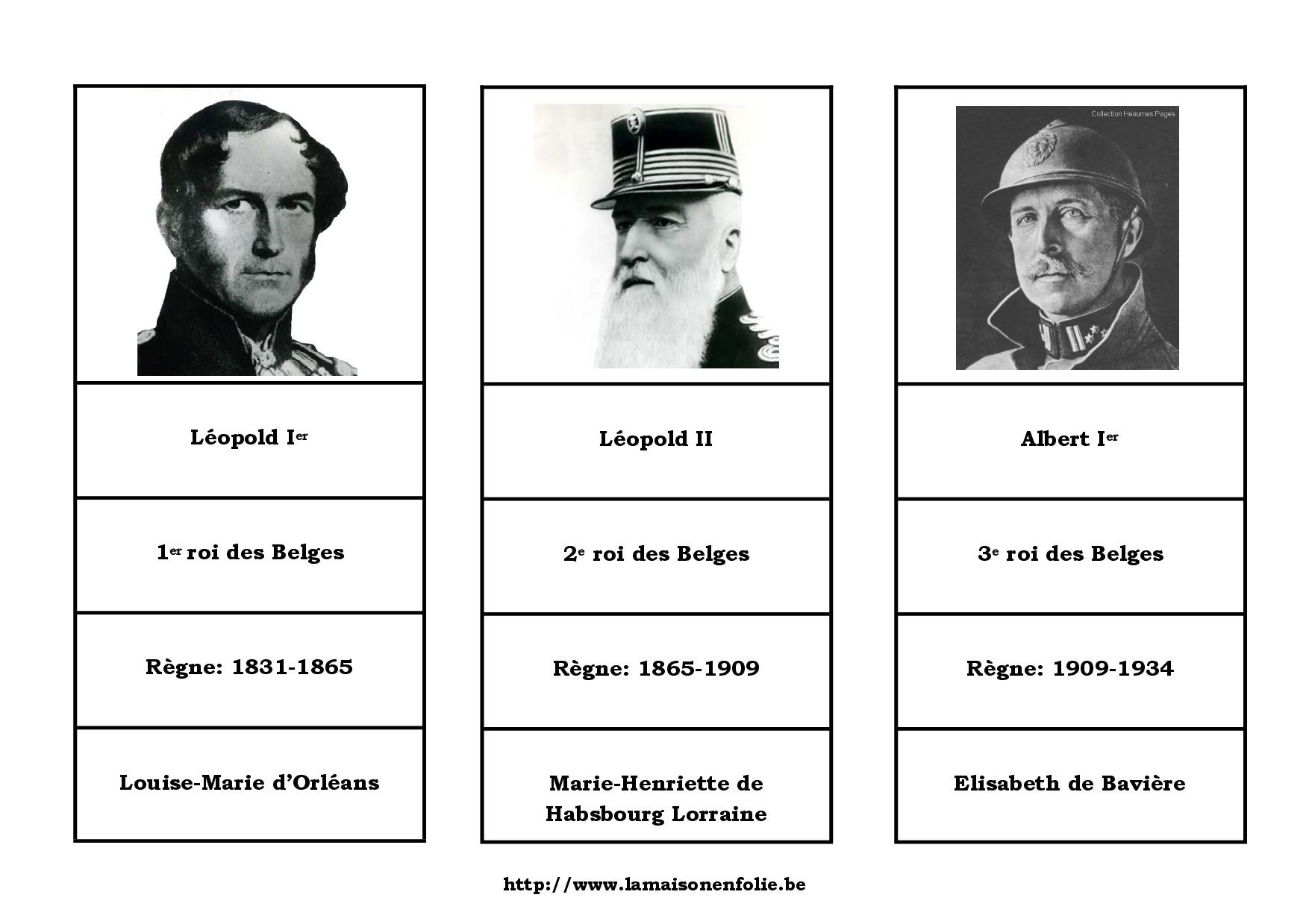 Dynastie belge: Cartes de nomenclature
