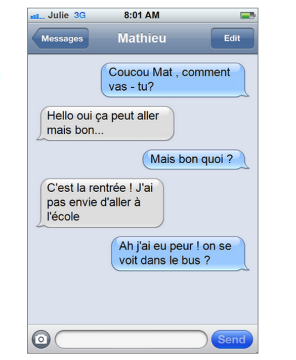 Se servir du SMS pour passer à l'écrit