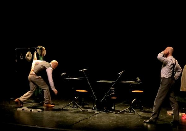 """Les deux acteurs, interprétant """"Bouvard et Pécuchet"""", nous ont bien fait rire au Théâtre Gaston Bernard !"""