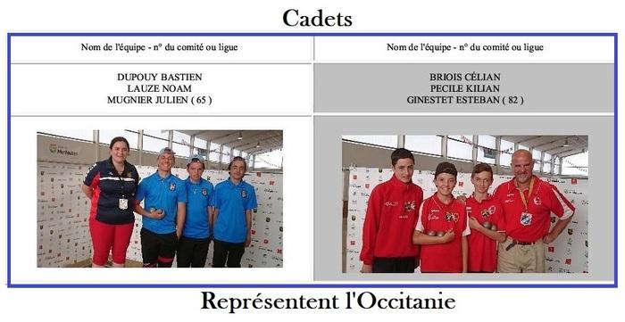 Championnat de France Triplette Cadets