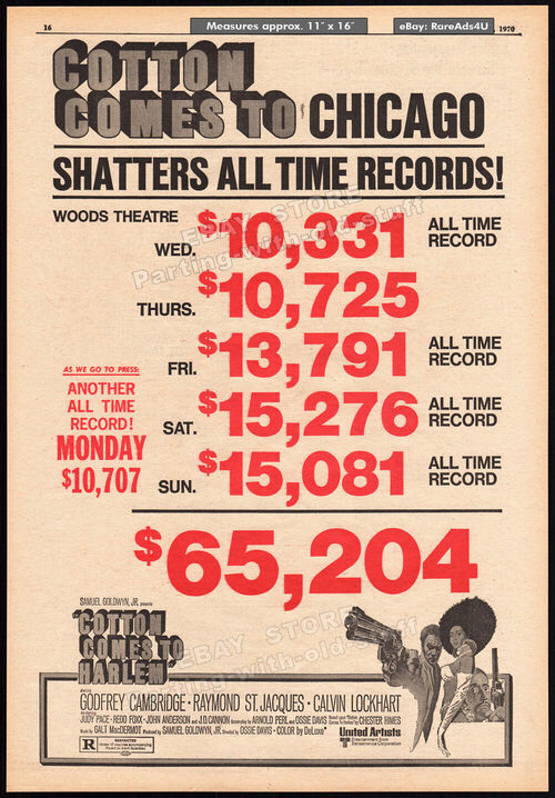 BOX OFFICE USA DU 28 MAI 1970 AU 3 JUIN 1970