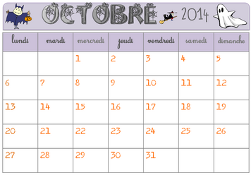 Calendrier 2014-2015 vierge