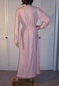 Chemise de nuit rose unie.2