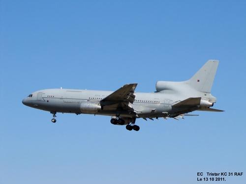 Lockheed Tristar KC1 ZD953 de la RAF à Blagnac (31) Le 13 10 2011.