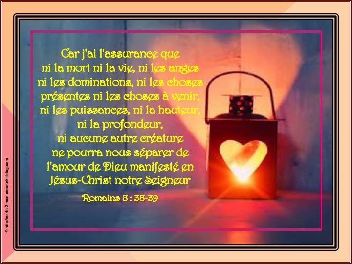 Rien ne pourra nous séparer de l'amour de Dieu - Romains 8 : 38-39