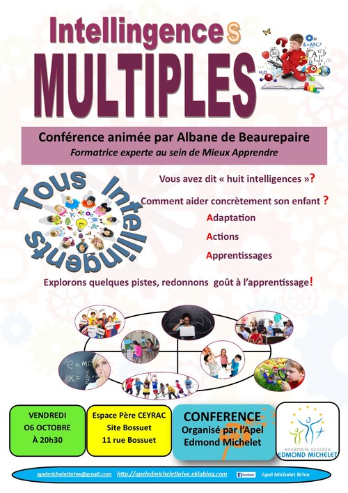 Conférence INTELLIGENCES MULTIPLES