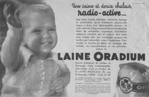 Vous prendrez bien un peu de laine radioactive ?