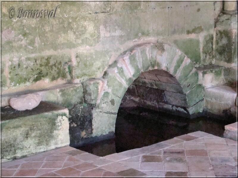 Abbaye de Fontdouce 12 ème siècle Charente-Maritime sortie de la canalisation de la Salle Capitulaire