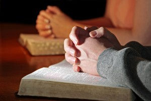 Praying Hands Bibles Couple