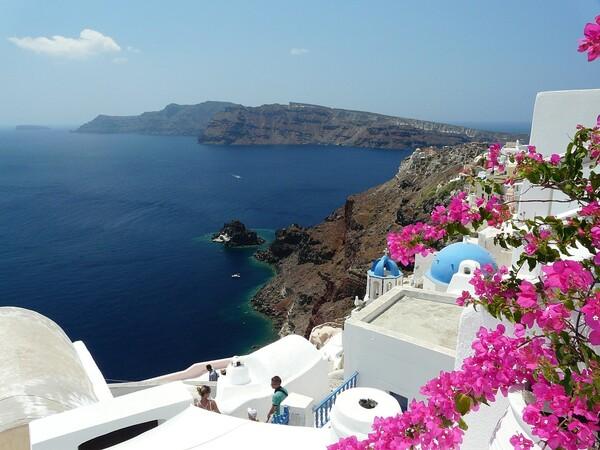 ** VOYAGE sur  L'ILE de SANTORIN **Grèce.