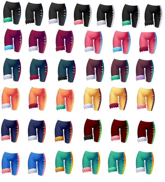 Pantalon uni à froufrous