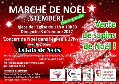 Ce 4 décembre, retrouvez-moi au marché de Noël de Stembert !
