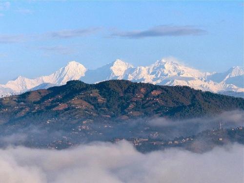 vue sur l'himalaya;