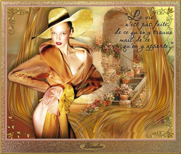 Une femme en or