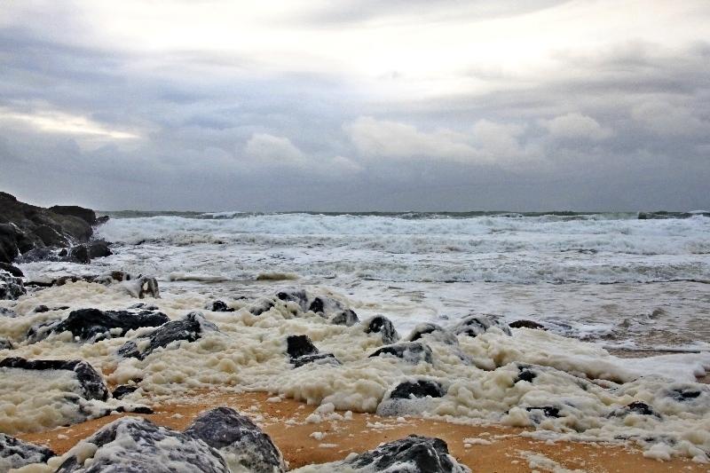 La colère de l'océan.