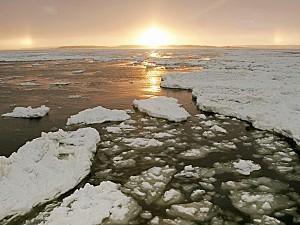 Churchill River at Sunset Manitoba Canada