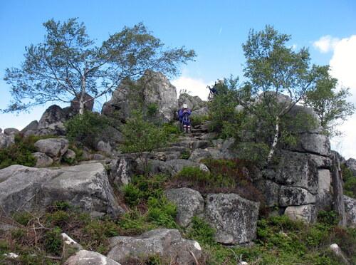 Randonnée dans le Livradois Forez du 6 au 08.06.2017..1er Jour.Vollore Montagne.19 kms