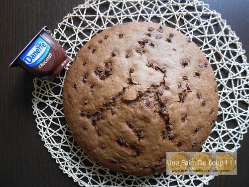 Gâteau Danette chocolat & pépites de chocolat
