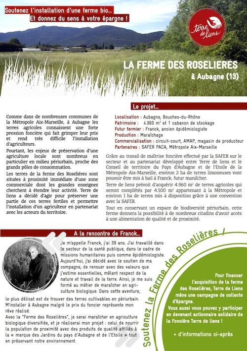 """Souscription """"Ferme des Roselières"""""""
