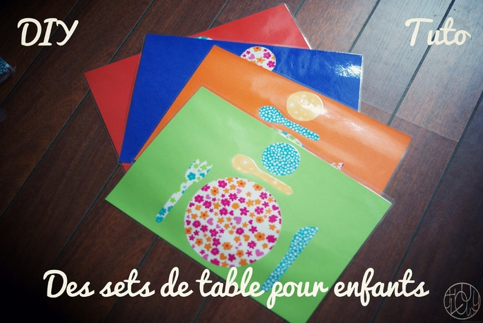 DIY Tutoriel : Des sets de table Montessori