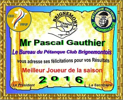 Assemblée Générale du Pétanque Club Brignemontois.