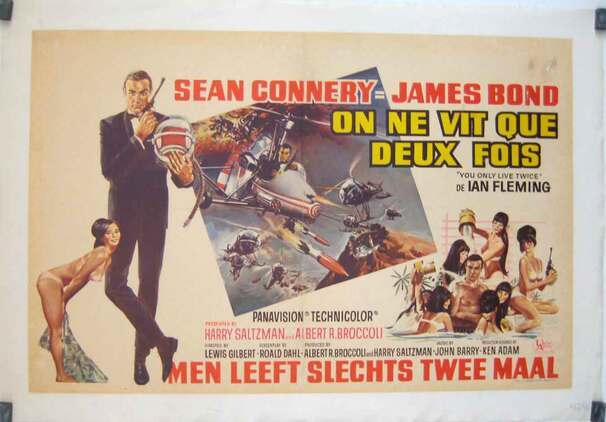 ON NE VIT QUE DEUX FOIS - BOX OFFICE SEAN CONNERY 1967