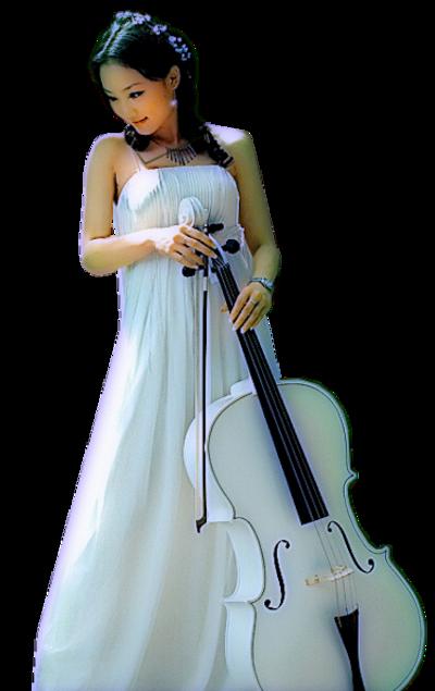 femme au violoncelle