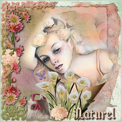 cadeau pour vos créations :cluster fleurs de printemps