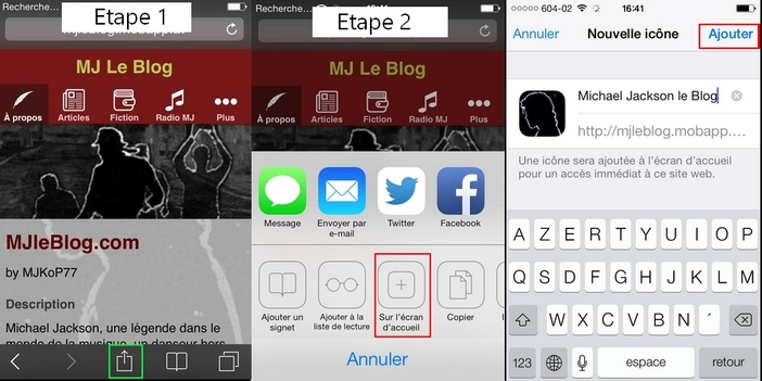 Michael Jackson le Blog: L'Application