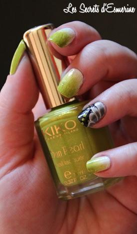 kiko sun pearl 427 chartreuse amable nail art
