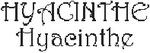Dicton de la St Hyacinthe + grille prénom !