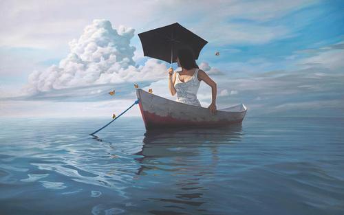 Femmes et parapluie