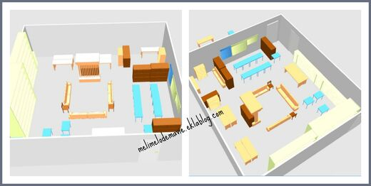 Aménagement classe, logiciel sweeet home 3d, plan