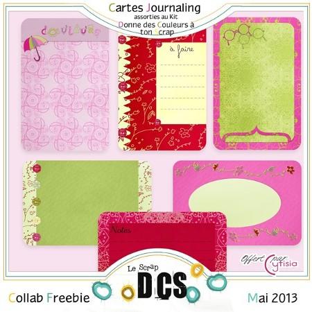 Cartes Journaling, chez DCS