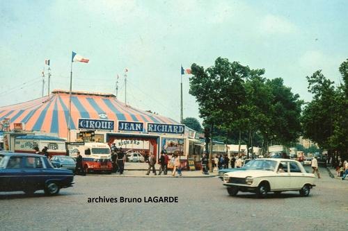 le cirque dans la ville : Paris 1973