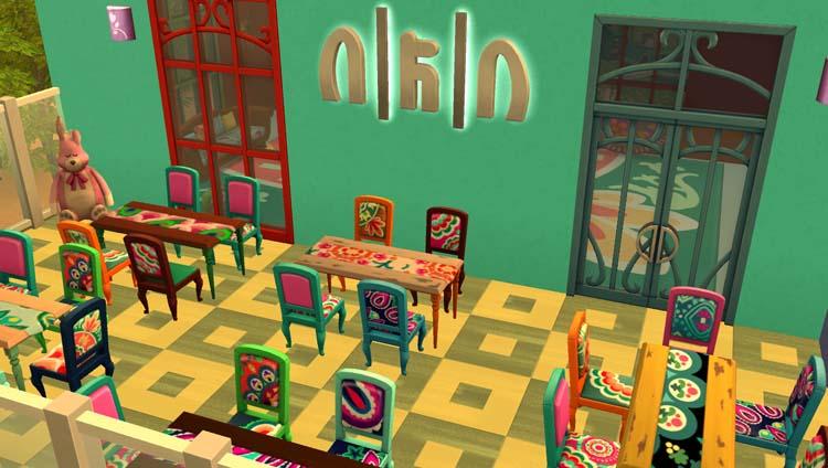 Sims 4 : le restaurant au paradis des enfants MAJ