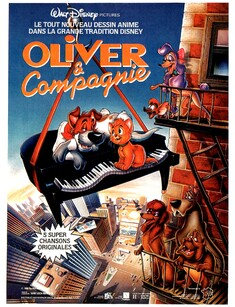 OLIVER ET COMPAGNIE  BOX OFFICE FRANCE 1989