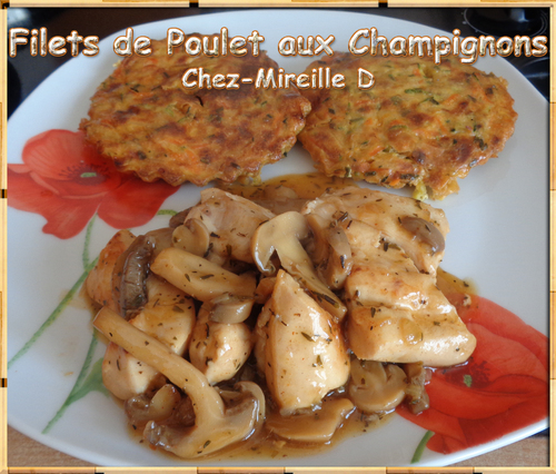 Filets de Poulet de Poulet aux Champignons