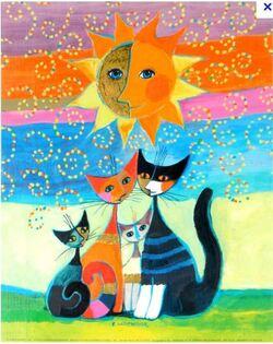 Les chats à la manière de R. Wachmeister