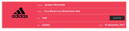 adidas Prophere Black Solar Red