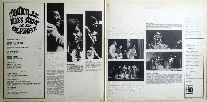 """Série """" Rhythm And Blues Show At The Olympia """" Stax Records 69005 [ FR ]"""