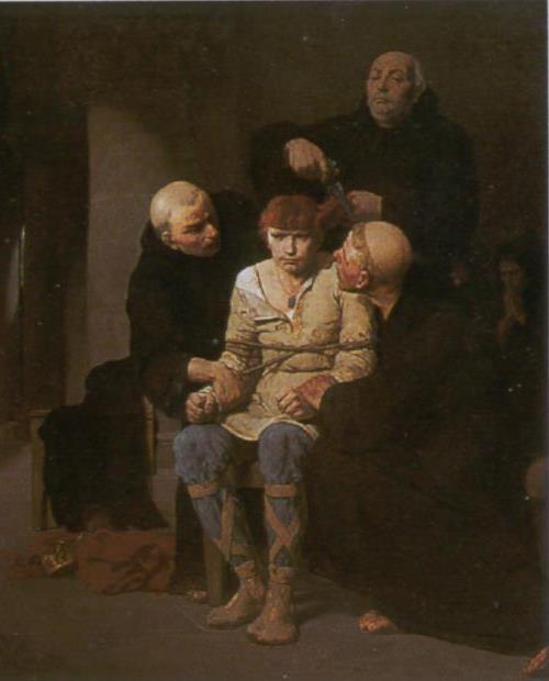 Les MEROVINGIENS - la tonsure... humiliation suprême....( IV )