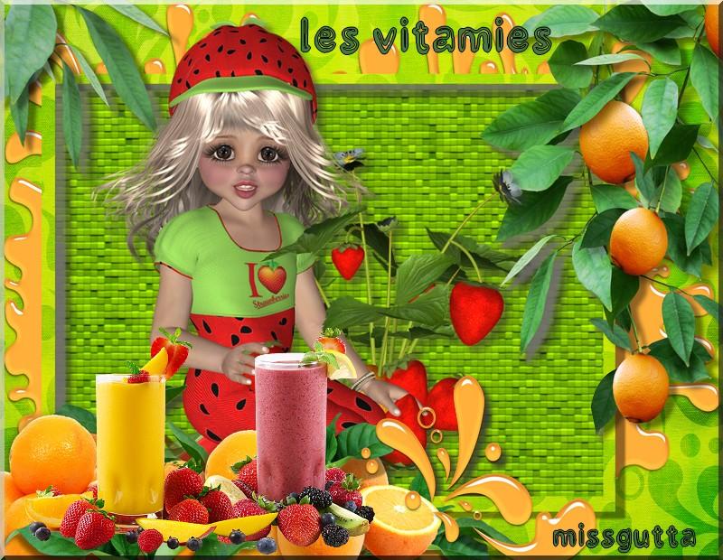 """Défi pour Monique """" les fruits les vitamines !"""