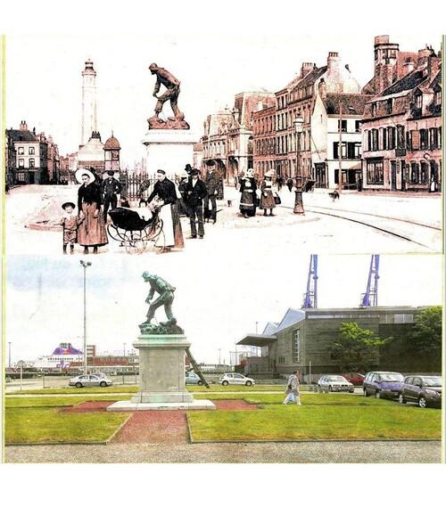 Le monument aux sauveteurs déplacé en 1960