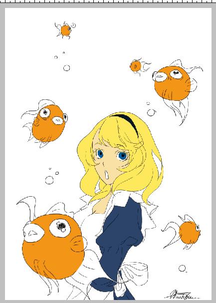 • WIP : fille + poisson