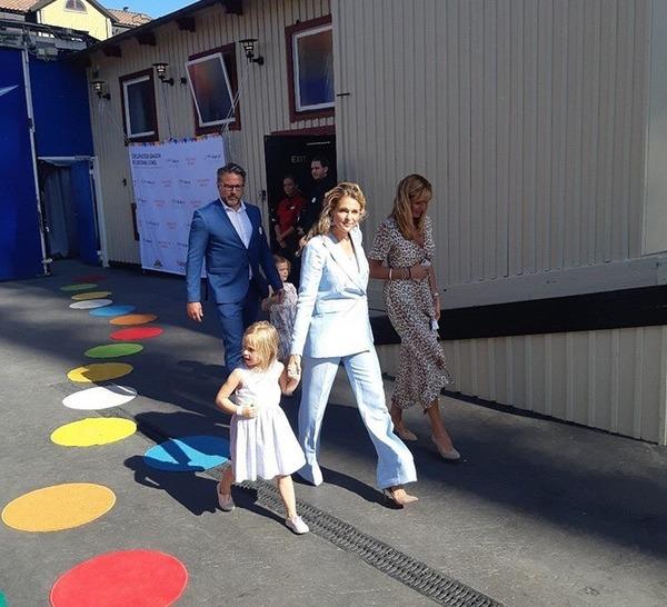 Madeleine et Leonore à Stockholm le 27 mai